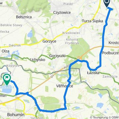 Wiejska 42a, Wodzisław Śląski do Oderská, Bogumin
