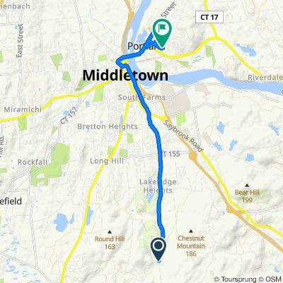 96 Foot Hills Rd, Durham to 14 Cross St, Portland