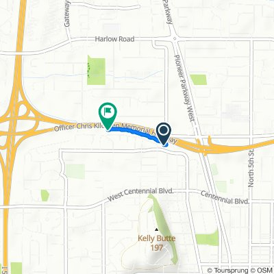Route from 320 W Fairview Dr, Springfield