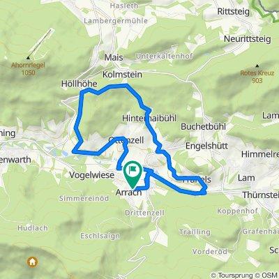 MTB-Tourenvorschlag Arrach - Haibühl - Kolmstein
