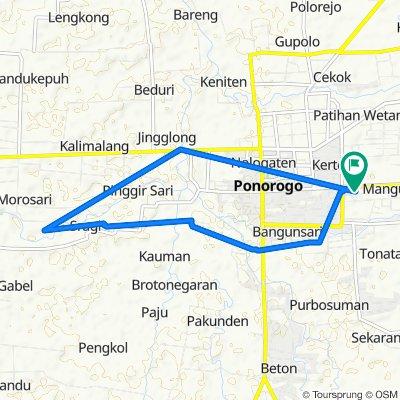 Jalan Pacar 19, Kecamatan Ponorogo to Jalan Pacar 19, Kecamatan Ponorogo