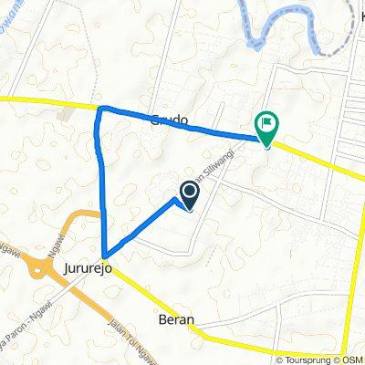 Gang Ismoyo 85, Kecamatan Ngawi to Jalan P.B. Sudirman, Kecamatan Ngawi