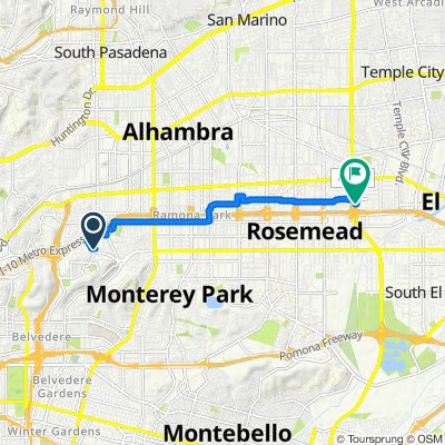 1801 W Garvey Ave, Alhambra to 3614 Rosemead Blvd, Rosemead