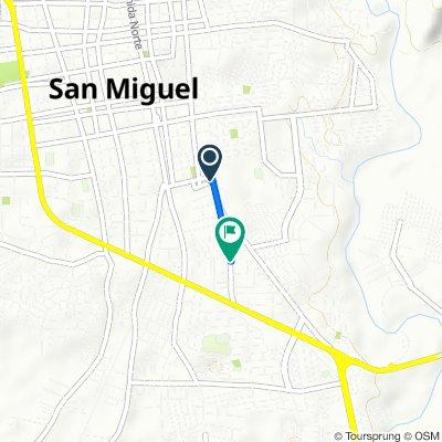 De 15a Calle Oriente, San Miguel a Avenida San Antonio, San Miguel