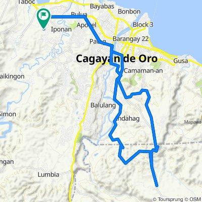 E. Quirino Street, Cagayan de Oro City to E. Quirino Street, Cagayan de Oro City