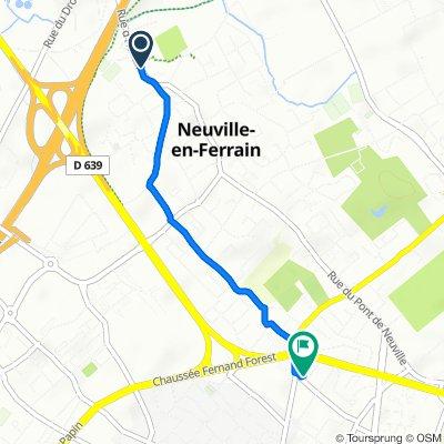 De 24 Rue d'Halluin, Neuville-en-Ferrain à 148 Rue de Varsovie, Tourcoing