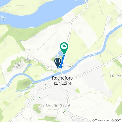 De 43 Route de la Vallee, Rochefort-sur-Loire à D106, Rochefort-sur-Loire