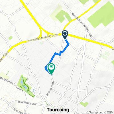 De 148 Rue de Varsovie, Tourcoing à 137 Rue de Gand, Tourcoing