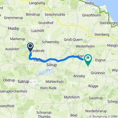 Waldweg 1, Sörup nach Brunsbüllund 1, Sterup