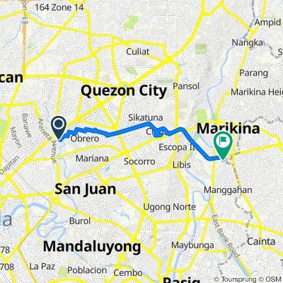Waling-Waling 41, Quezon City to F Mariano Avenue 67, Pasig