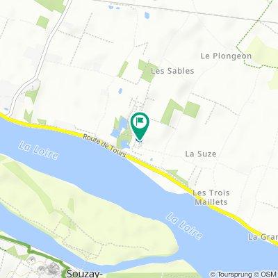 De Impasse de la Brèche, Varennes-sur-Loire à Impasse de la Brèche, Varennes-sur-Loire