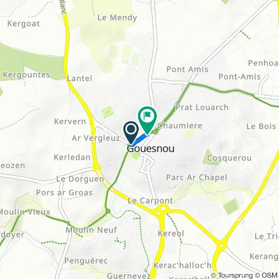 De 5 Rue de Saint-Gouesnou, Gouesnou à Rue de Saint-Gouesnou, Gouesnou