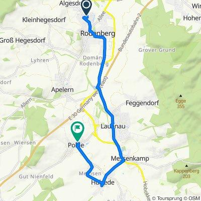 Jadeweg, Rodenberg nach Rosenstraße 10–20, Pohle