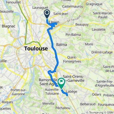 De 3 Boulevard des Fontanelles, L'Union à Chemin du Canal, Auzeville-Tolosane
