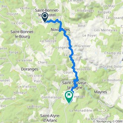 De La Sagne, Saint-Bonnet-le-Chastel à D105, Saint-Alyre-d'Arlanc