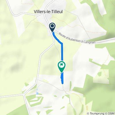 Itinéraire à partir de 2 Route d'Omont, Villers-le-Tilleul