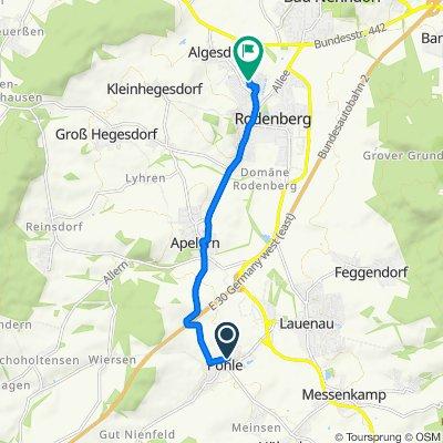 Rosenstraße 10–20, Pohle nach Jadeweg, Rodenberg