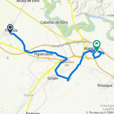 De Avenida Diputación 3, Pedrola a Paseo de Torres de Berrellén 12, Alagón