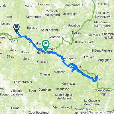 De Route des 4 Saisons 31, Mornac à Les Sables, Saint-Germain-de-Montbron