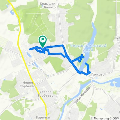 От Молодежная улица 2Б, Ногинск до Молодежная улица 2А, Ногинск