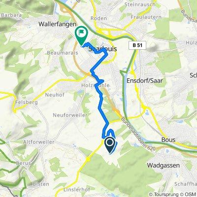Zum Geisberg, Saarlouis nach Schillerstraße 2, Saarlouis