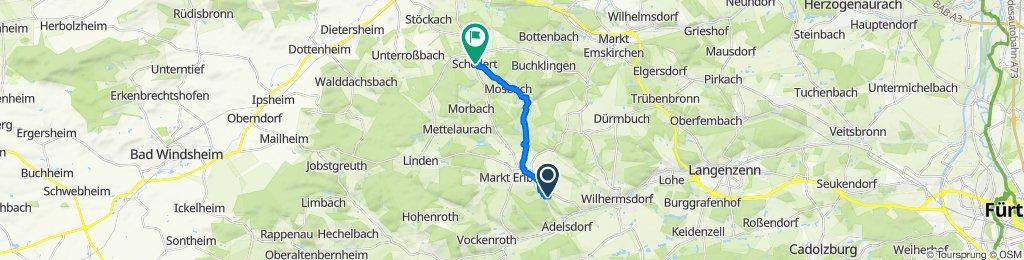 Waldstraße 2, Markt Erlbach nach Schellert 9, Neustadt an der Aisch