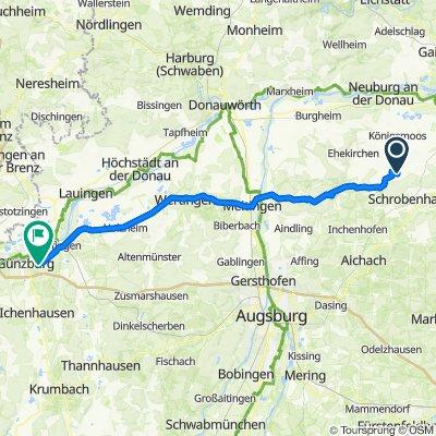 Pfarrer-Utz-Straße 12, Langenmosen nach Sankt-Erhard-Straße 10, Günzburg
