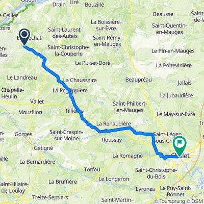 De 4 La Pinardrie, Barbechat à Place Jean Moulin, Cholet