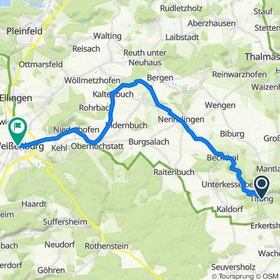 5. Donnerstag: Titting-Weißenburg