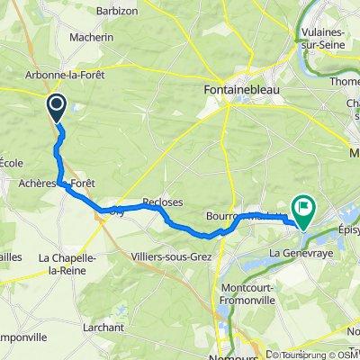 De D64, Noisy-sur-École à 12 Route de Montigny, La Genevraye