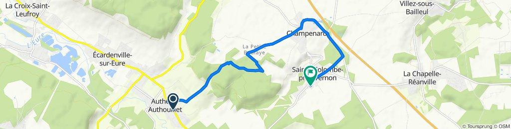 De Rue Yves Montand, Autheuil-Authouillet à 9 Rue de Chambray, Sainte-Colombe-près-Vernon