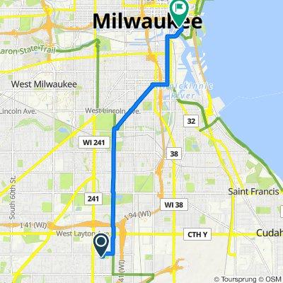 2314 W Manchester Ave, Milwaukee to 310 E Chicago St, Milwaukee