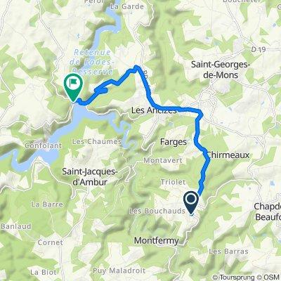 De D418, Chapdes-Beaufort à D19, Miremont