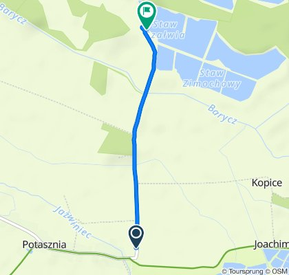 Potasznia 32, Milicz do Gądkowice 28, Milicz