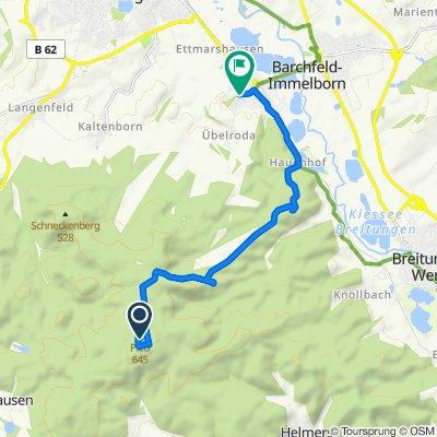 Pleßstraße, Breitungen/Werra nach Hasental 40, Immelborn