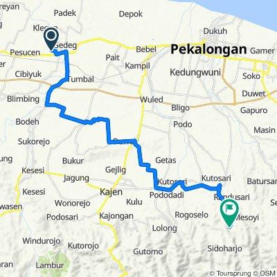 Jalan Formasi, Kecamatan Ampelgading to Jalan Sidoharjo, Doro