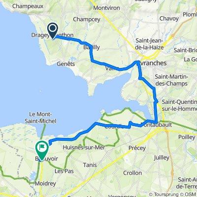 Dragey Ronthon - Mont St Mich vélo de route