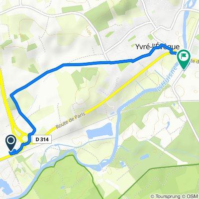 Route van La Crape, Yvré-l'Évêque