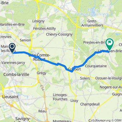 Itinéraire vers 1 Rue Léopold Joubin, Liverdy-en-Brie