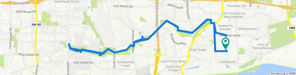 California Trail 1213, Grand Prairie to California Trail 1213, Grand Prairie