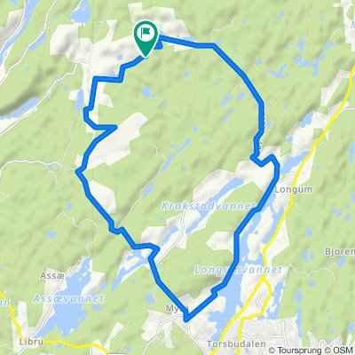 Rundt Myra-Granestua-Hersel ved Arendal på sykkel
