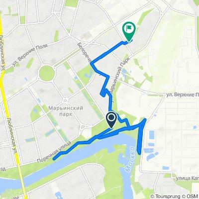 От Unnamed Road, Москва до улица Маршала Кожедуба 2 корпус 1, Москва