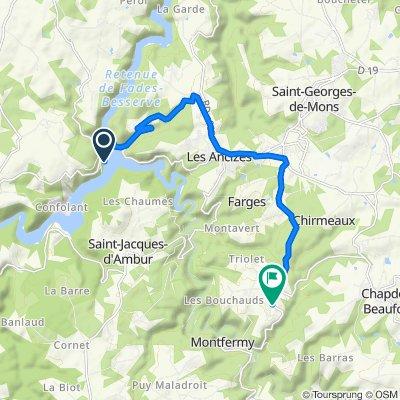 Itinéraire vers D418, Chapdes-Beaufort