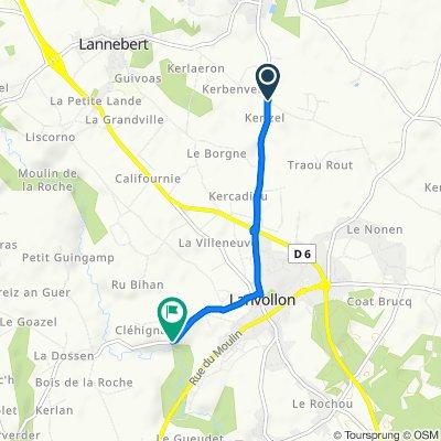 De 1 Kerisel, Pludual à Rue du Leff, Lanvollon