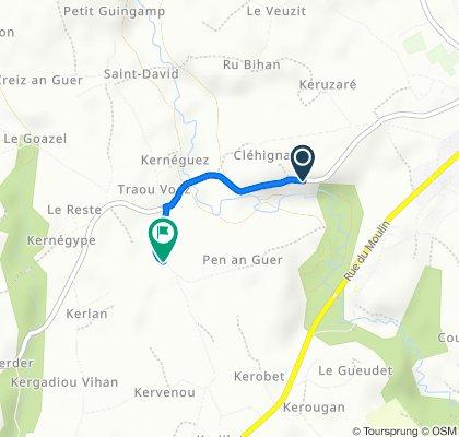 De Rue du Leff, Lanvollon à Bois de la Roche, Goudelin