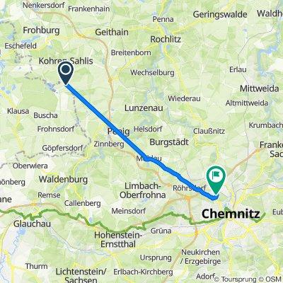 S57, Langenleuba-Niederhain nach Wittgensdorfer Straße 28A, Chemnitz
