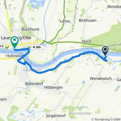 Route nach Grünstraße 14A, Lauenburg/Elbe