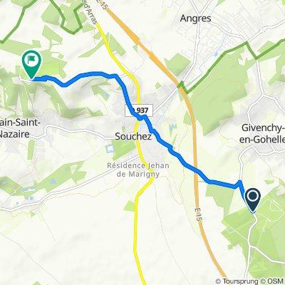 De Chemin des Canadiens, Givenchy-en-Gohelle à Pla de Notre Dame de Lorette 2, Ablain-Saint-Nazaire