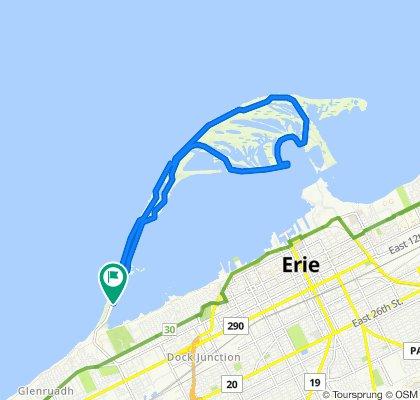 Presque Isle Bike Trail, Erie to Presque Isle Bike Trail, Erie