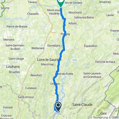 15C Route du Pont de Chancia, Dortan to 3 Rue de la Plage, Ounans